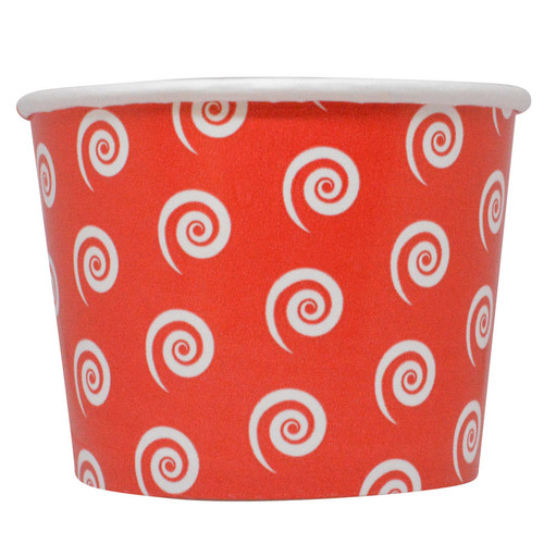 16oz Swirl & Twirl Ice Cream Cups - Red - Made In The USA