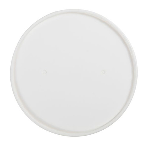 White Paper lid, non-vented  for 6-10 oz 96mm Paper Cups - 1,000 ct