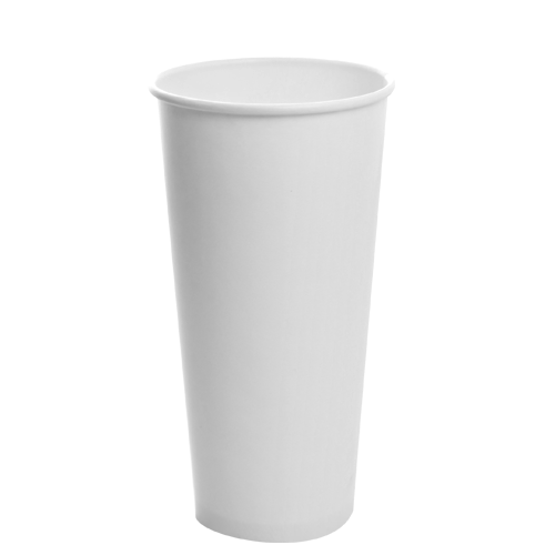 22oz Cold Paper Drink Cup White 655cc