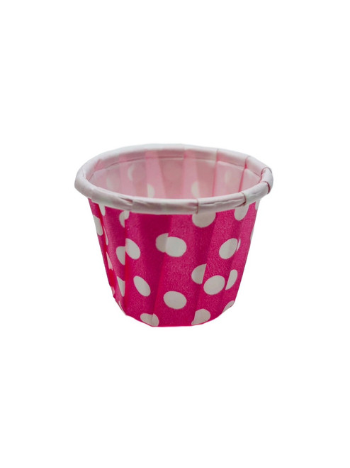.5oz Paper Ice Cream / Froyo Sample Taster Cups 5000ct Pink/Wht Polka Dot