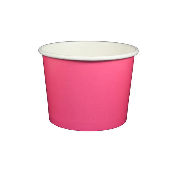 16oz Ice Cream / Froyo Paper Cups 112mm 1000ct Pink