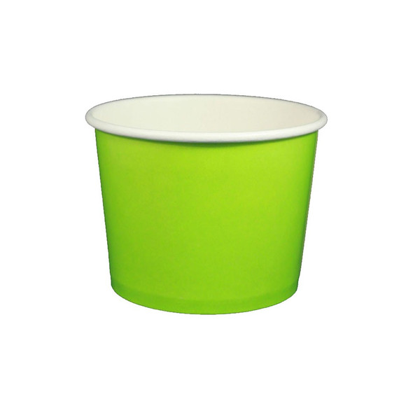 16oz Ice Cream / Froyo Paper Cups 112mm 1000ct Green