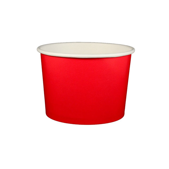 16oz Ice Cream / Froyo Paper Cups 112mm 1000ct Red