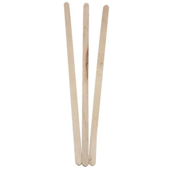 "Coffee Wood Stir Sticks, 7.5"" 500ct/box"
