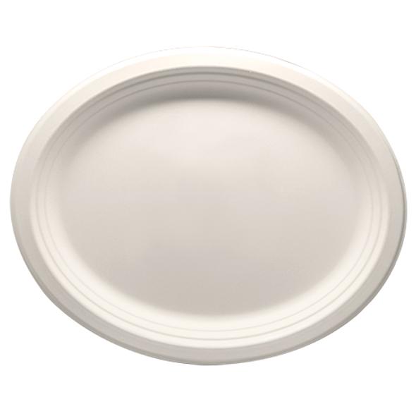 "Karat 12.5""x 10"" Compostable Oval Plate 500ct"