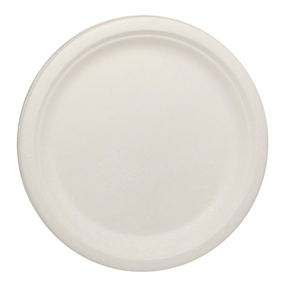 "Karat 9"" Compostable Bagasse Round Plates 500ct"