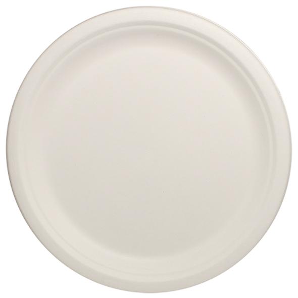 "Karat 10"" Compostable Bagasse Round Plates 500ct"