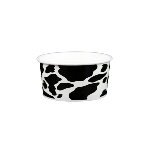6oz Dairy Cow Print Ice Cream/Froyo Cups 96mm 1000ct