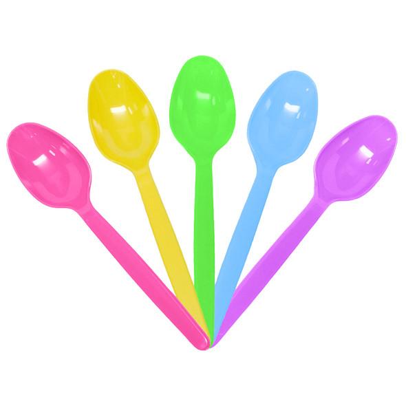 Karat PS Heavy Weight Tea Spoons - Rainbow 1000ct
