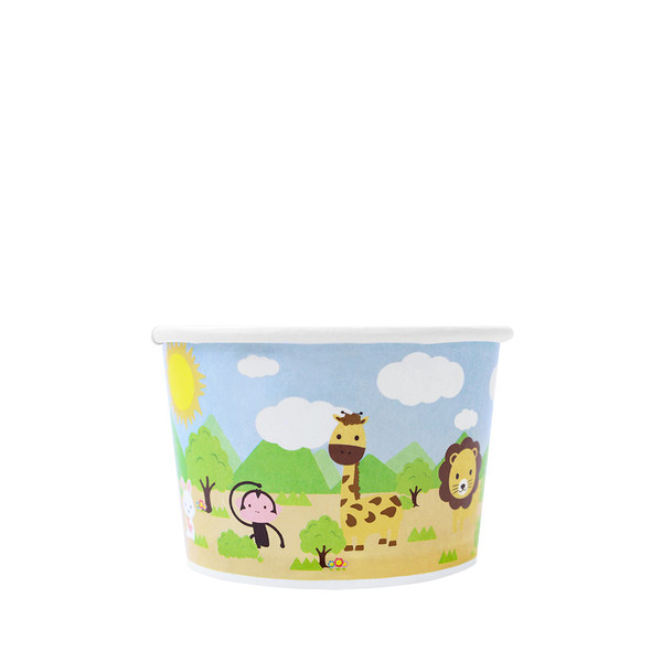 4oz Food Containers Safari 76mm 1000ct