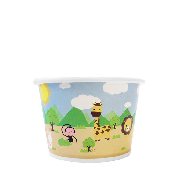 8oz Food Containers Safari 95mm 1000ct