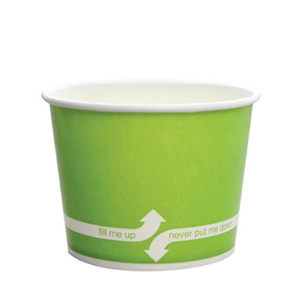 "12oz Food Containers Green 100mm 1000ct ""fill me up, never put me down"""