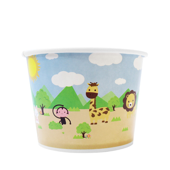 12oz Food Containers Safari 100mm 1000ct