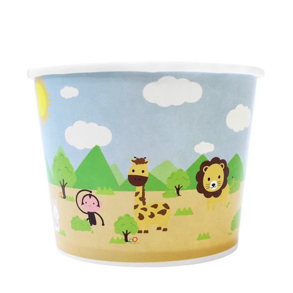 16oz Food Containers Safari 112mm 1000ct