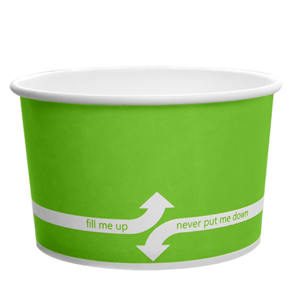 "20oz Food Containers Green 127mm 600ct ""fill me up, never put me down"""