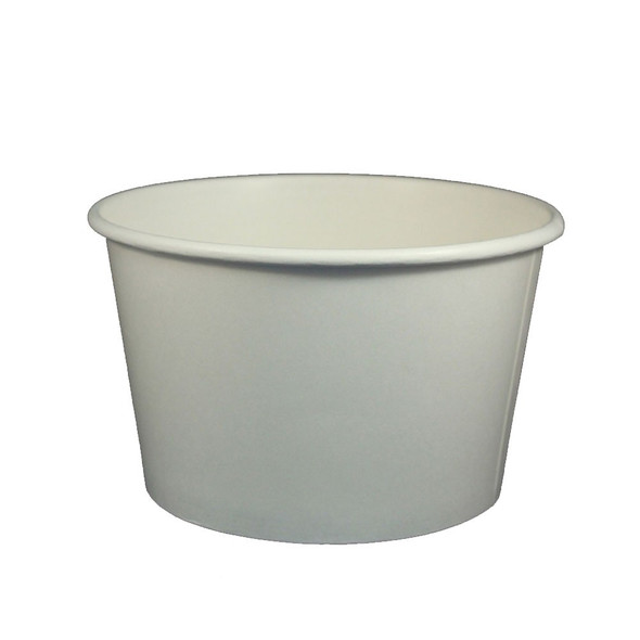 24oz Food Containers White 142mm 600ct - Ideal for ice cream shops, froyo, boba, gelato shops and restaurants