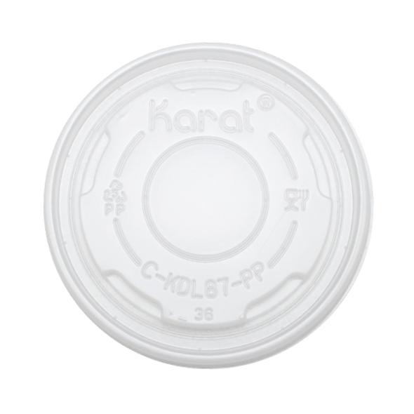 87mm Rim PP Food Container Flat Lid No Hole 1000ct