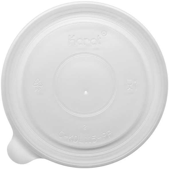 115mm Rim PP Food Container Flat Lid 500ct