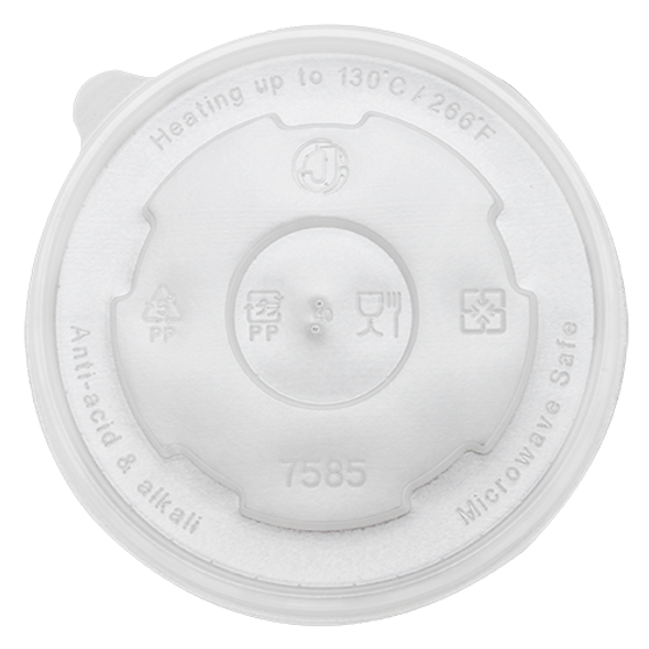 127mm Rim PP Food Container Flat Lid No Hole 600ct