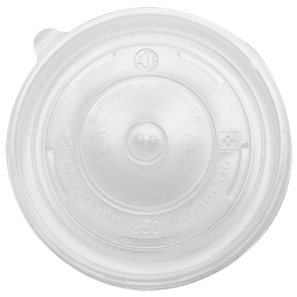 142mm Rim PP Food Container Flat Lid No Hole 600ct