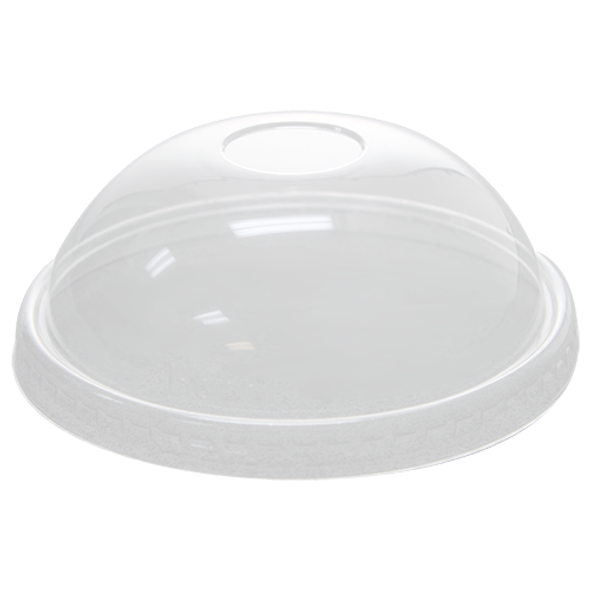 127mm Rim PET Food Container Dome Lid No Hole 600ct