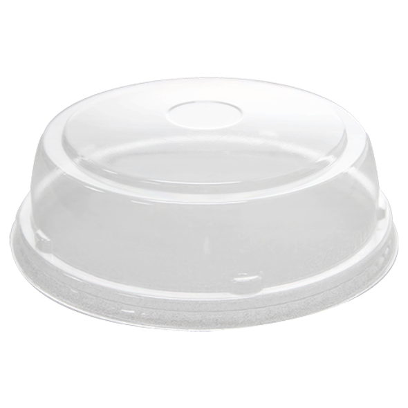 142mm Rim PET Food Container Dome Lid No Hole 600ct
