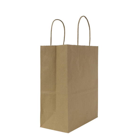 "Karat Balboa Small Paper Shopping Bag Kraft 250ct  8.1""Wx10.6""Hx4.5""G"