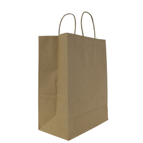 "Karat Laguna Medium Paper Shopping Bag Kraft 250ct  9.6""Wx13.4""Hx5.3""G"