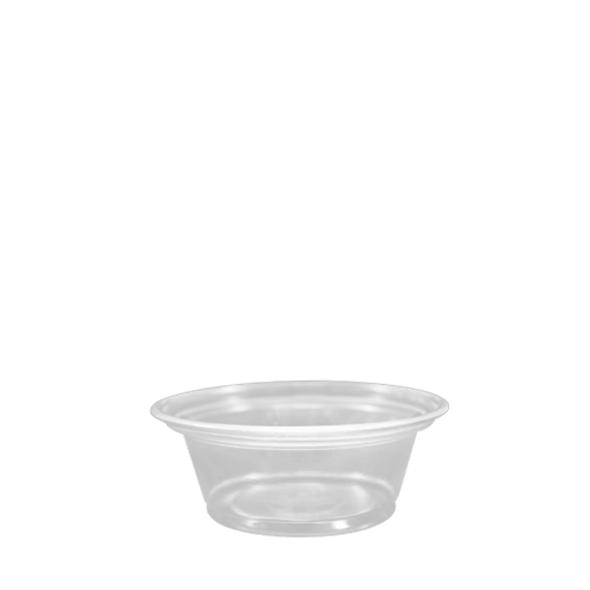 Karat 1oz Squat PP Portion Taster Cup Clear 2500ct