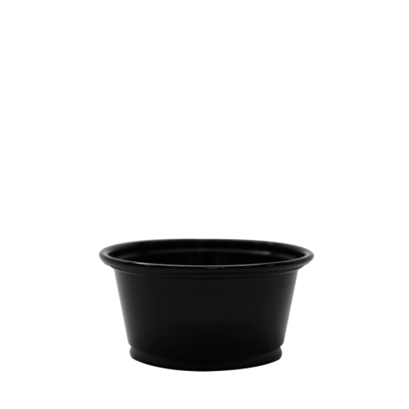 Karat 2oz PP Portion Sample Cups Black 2500ct