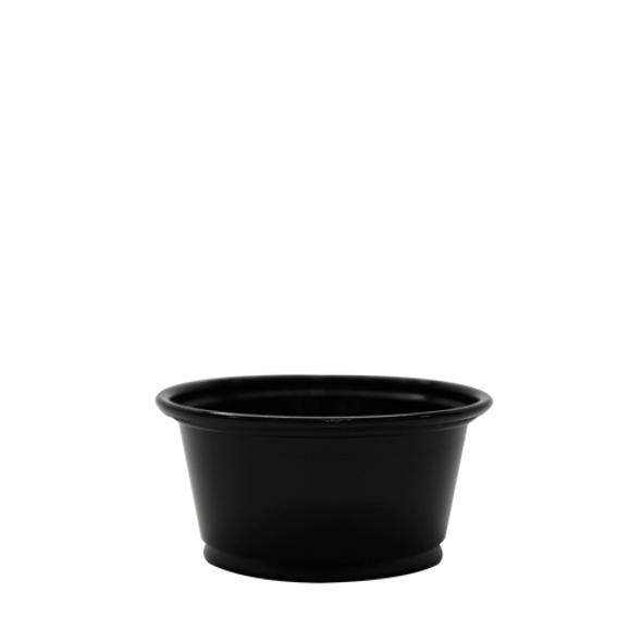 Karat 2oz PP Portion Sample Cups Black 2500ct