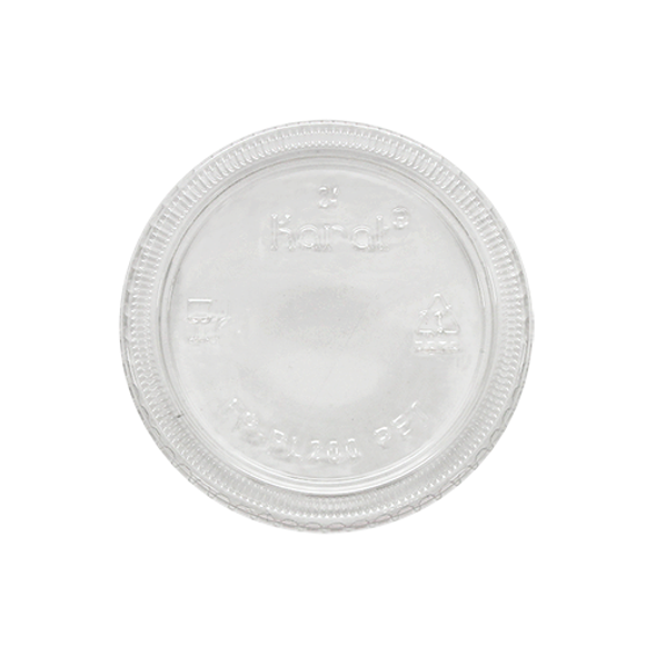 Karat 1oz Squat-2oz PET Portion Cup Lids - 2500ct