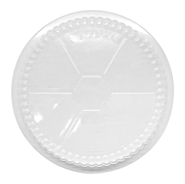 "Karat 7"" Plastic Dome Lid for Foil To-Go Container"