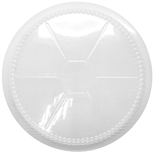 "Karat 9"" Plastic Dome Lid for Foil To-Go Container"