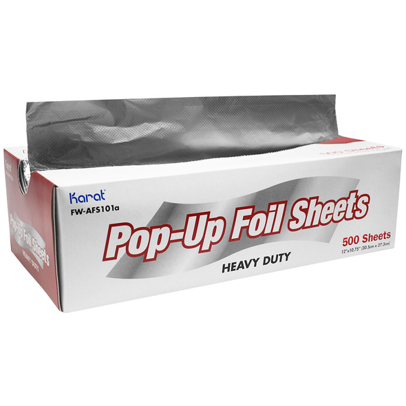 "Karat 12"" x 10.75"" Heavy-Duty Aluminum Foil Sheets"