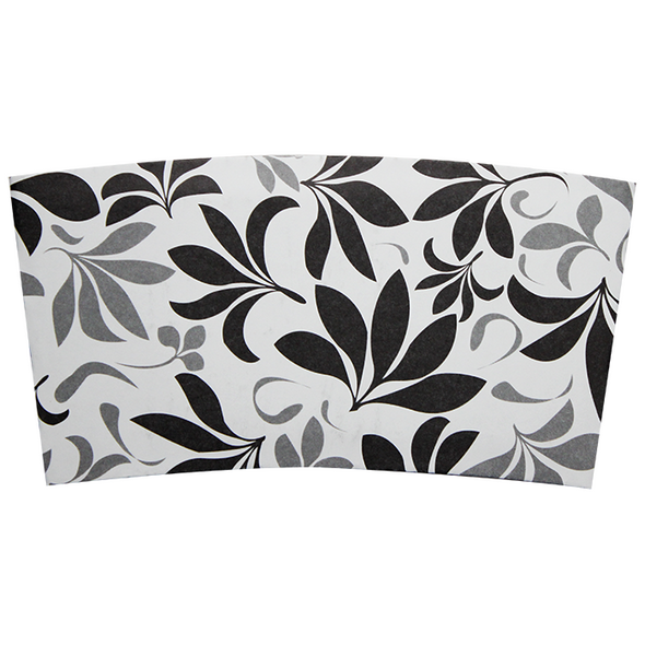 Karat Cup Jacket Sleeves - Floral Black 1000ct