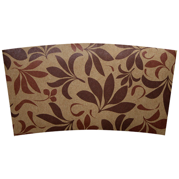 Karat Cup Jacket Sleeves - Floral Brown 1000ct