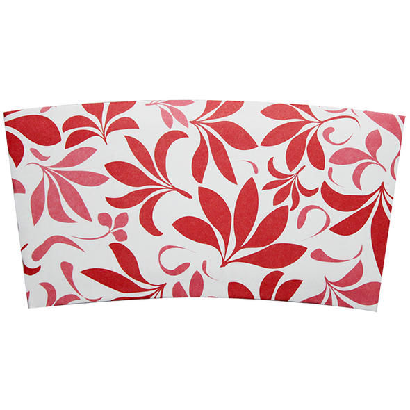 Karat Cup Jacket Sleeves - Floral Red 1000ct