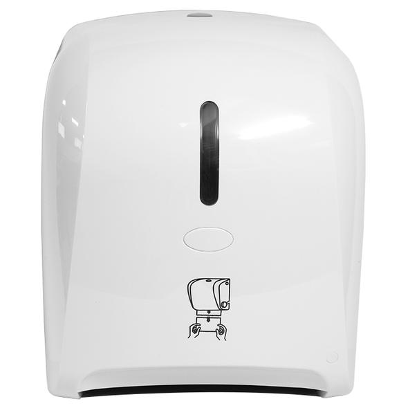 Autocut Manual Hand Towel Roll Dispenser - White