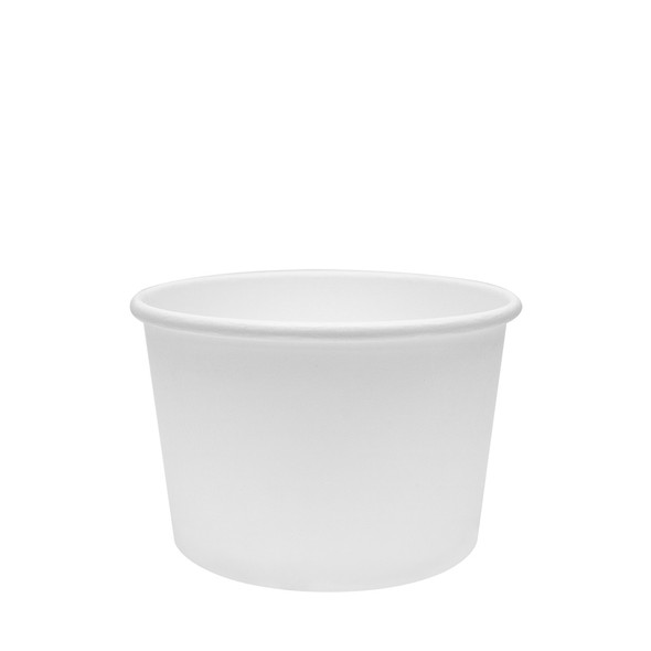 White Eco-Friendly 8oz Paper Containers 90.8mm 1000ct