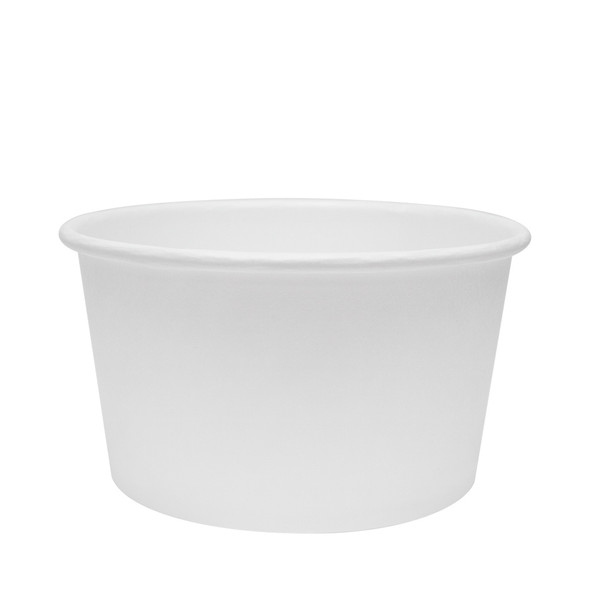 White Eco-Friendly 12oz Paper Containers 114.6mm 500ct