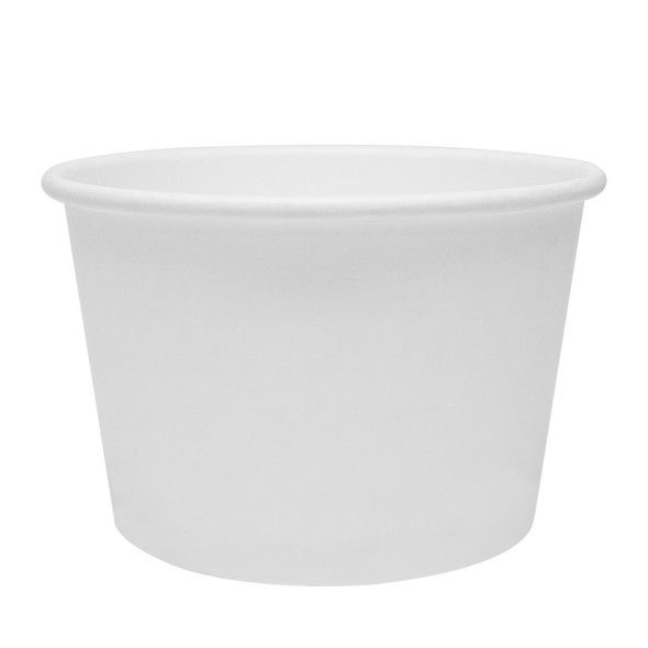 White Eco-Friendly 16oz Paper Containers 114.6mm 500ct