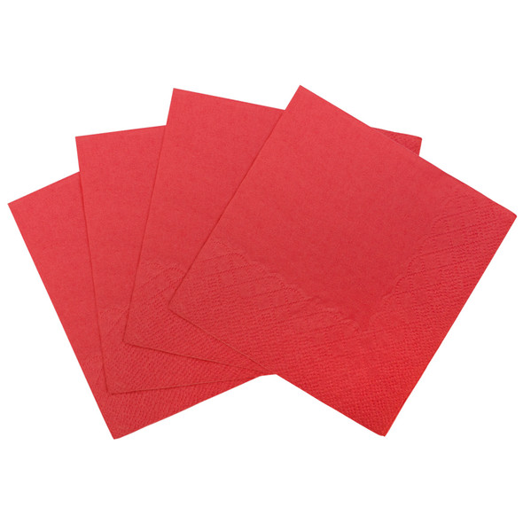"Karat 9.5""x 9.5"" Beverage Napkins - Red 1000ct"