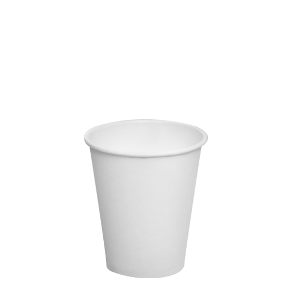 Karat 8oz Paper Hot Cups - White 80mm 1000ct