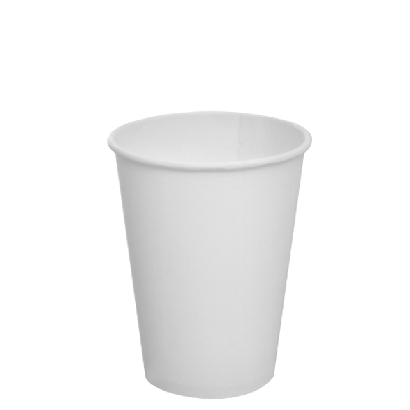 Karat 12oz Paper Hot Cups - White 90mm 1000ct