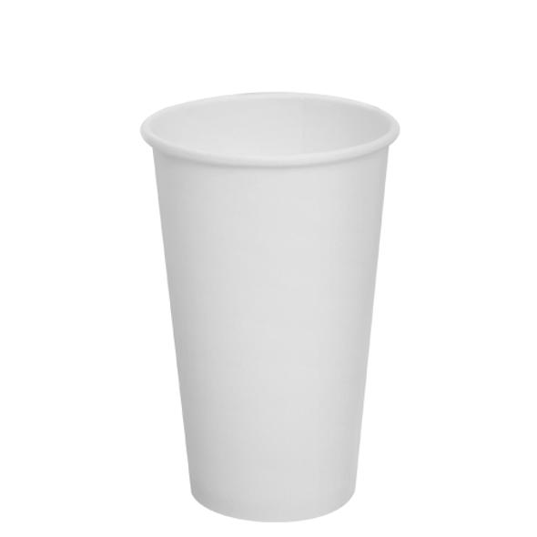 Karat 16oz Paper Hot Cups - White 90mm 1000ct