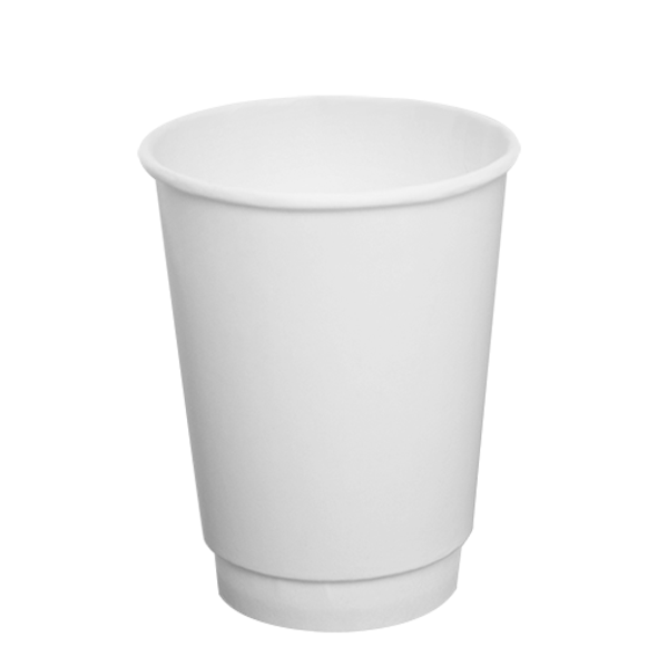 12oz Insulated Paper Hot Cup - White 90mm 500ct