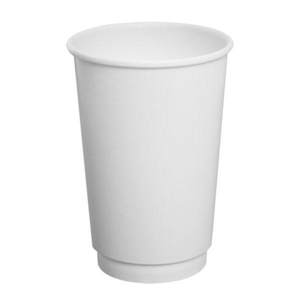 16oz Insulated Paper Hot Cup - White 90mm 500ct