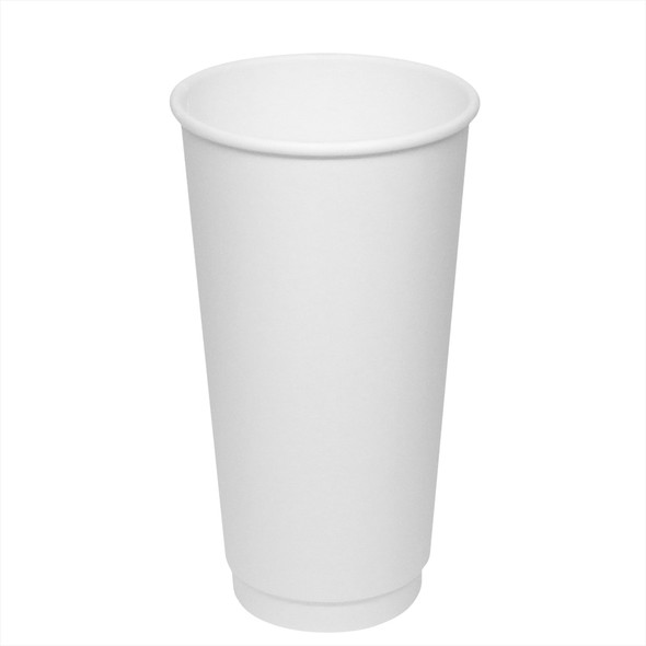 20oz Insulated Paper Hot Cup - White 90mm 300ct