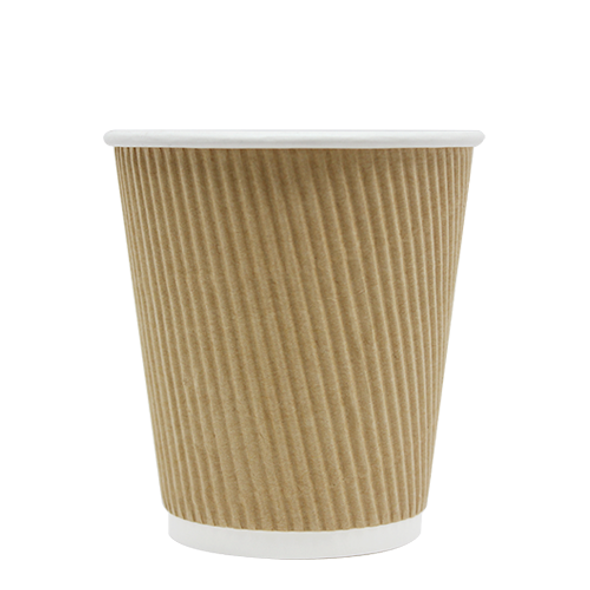 Karat 10oz Ripple Paper Hot Cup - Kraft 62mm 500ct